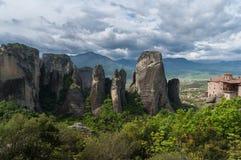 Montanhas de Meteora em Geece central Imagens de Stock