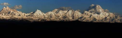 Montanhas de Minya Konka Foto de Stock Royalty Free