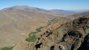 Montanhas de Morrocan fotografia de stock