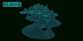 Montanhas de néon da serpente em um fundo preto Fotografia de Stock Royalty Free