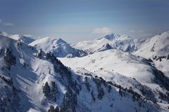 Montanhas de Nock, peça de Turracher Höhe dos cumes fotos de stock royalty free