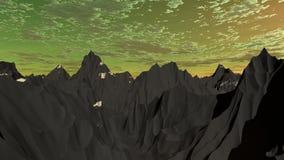 Montanhas de prata 1 Fotografia de Stock
