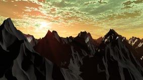 Montanhas de prata 2 Imagem de Stock