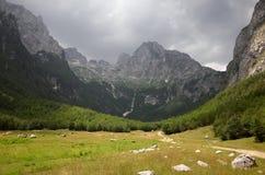 Montanhas de Prokletije fotos de stock royalty free