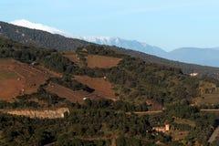 Montanhas de Pyrenees no francês Catalonia Fotografia de Stock