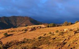 Montanhas de Pyrenees no francês Catalonia Imagem de Stock Royalty Free