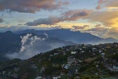 Montanhas de Qing jin em Taiwan Imagens de Stock