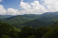 Montanhas de Ridge azul Imagem de Stock Royalty Free