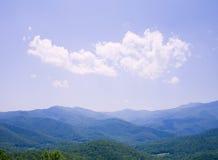 Montanhas de Ridge azul Foto de Stock Royalty Free
