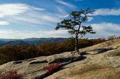 Montanhas de Ridge azul Fotos de Stock