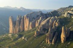 Montanhas de Riglos Fotos de Stock Royalty Free