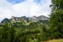 Montanhas de Rofan (cumes) Foto de Stock