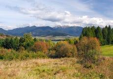 Montanhas de Rohace em Liptov, Eslováquia fotografia de stock
