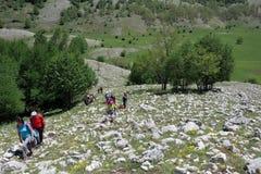 Montanhas de Sassano Imagem de Stock Royalty Free