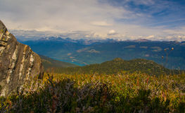 Montanhas de Selkirk de Frisby Ridge Fotografia de Stock Royalty Free