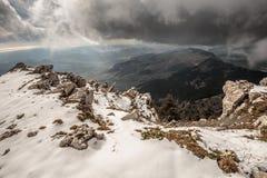 Montanhas de Sicília nevado, Itália imagem de stock royalty free