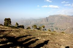 Montanhas de Simien fotos de stock