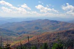 Montanhas de Smokey Fotografia de Stock