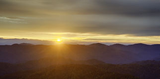 Montanhas de Smokey Imagem de Stock