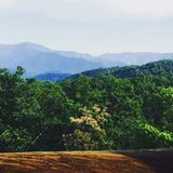 Montanhas de Smokie Fotos de Stock Royalty Free