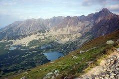 Montanhas de Tatra e lagos da montanha Fotografia de Stock