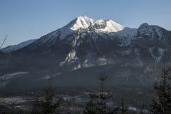 Montanhas de Tatra no inverno, paisagem Foto de Stock Royalty Free