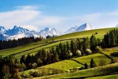 Montanhas de Tatry fotos de stock