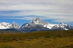 Montanhas de Torres del paine Fotografia de Stock
