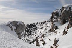 Montanhas de Trentino (Itlay) cobertas pela neve Imagens de Stock