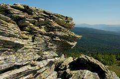 Montanhas de Ural nas horas de verão fotos de stock royalty free
