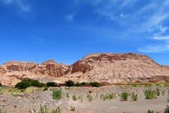 Montanhas de Valle Quitor em Atacama imagem de stock
