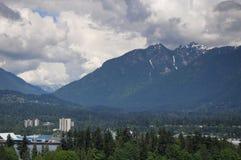 Montanhas de Vancôver do norte Fotos de Stock Royalty Free