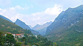 Montanhas de Vietname norte Foto de Stock Royalty Free