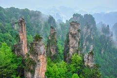 Montanhas de Zhangjiajie, China imagem de stock royalty free