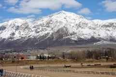 Montanhas dianteiras de Wasatch Foto de Stock Royalty Free