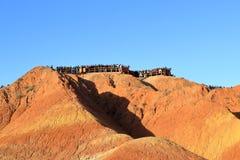 Montanhas do arco-íris, parque Geological do Landform de Zhangye Danxia, Gansu, China imagem de stock