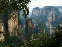 Montanhas do Avatar da montanha de Tianzi Shan, nacional Forest Park de Zhangjiajie imagens de stock