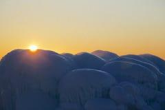 Montanhas do gelo Imagens de Stock Royalty Free