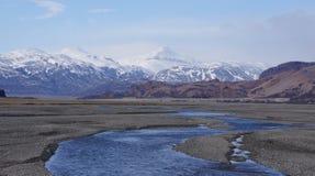 Montanhas do gelo e do colourfull em Islândia Fotografia de Stock Royalty Free