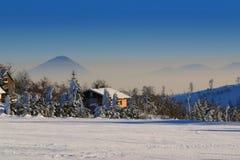 Montanhas do inverno Fotos de Stock
