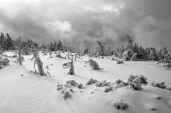 Montanhas do inverno Fotografia de Stock Royalty Free