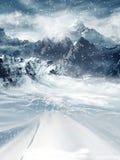Montanhas do inverno ilustração stock