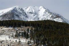 Montanhas do inverno de Colorado imagem de stock