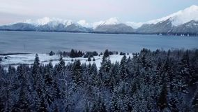 Montanhas do inverno em Alaska vídeos de arquivo