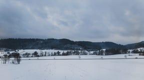 Montanhas do inverno, panorama Imagens de Stock