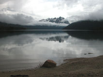 Montanhas do lago & do Sawtooth redfish Foto de Stock