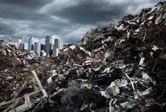 Montanhas do lixo fotografia de stock