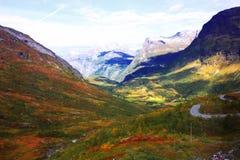 Montanhas do outono de Escandinávia Foto de Stock Royalty Free