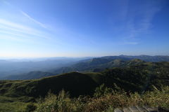 Montanhas do ponto de vista Imagens de Stock Royalty Free