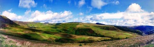 Montanhas do rolamento do vale Gales Reino Unido de Rhondda Fotografia de Stock